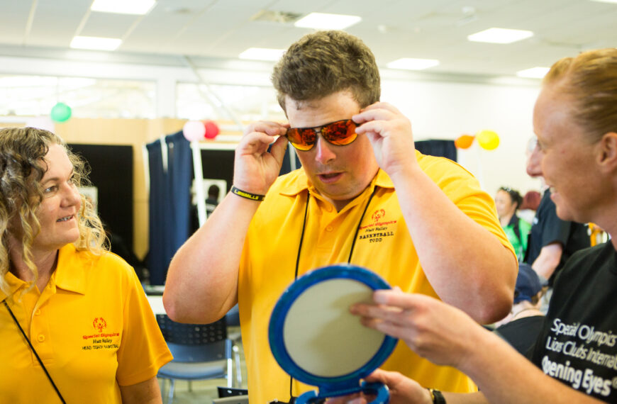 Over 800 pairs of glasses provided at National Games Health Screenings